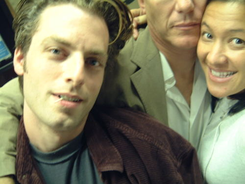 Justin Kirk with Carlo and Scilla